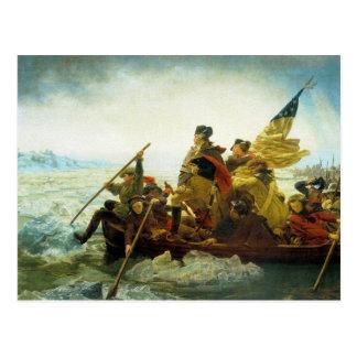 Postal--Washington que cruza el río Delaware Tarjetas Postales