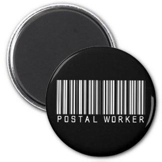 Postal Worker Bar Code Magnet