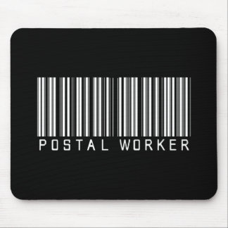 Postal Worker Bar Code Mouse Pad