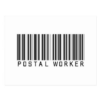Postal Worker Bar Code Post Cards