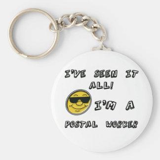 Postal Worker Basic Round Button Keychain