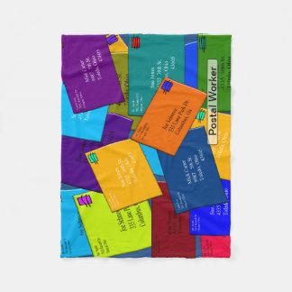 Postal Worker Fleece Blanket Letters 7