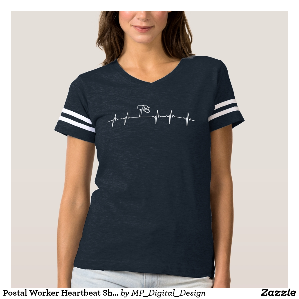 Postal Worker Heartbeat Shirt Mail Man Mailbox - Best Selling Long-Sleeve Street Fashion Shirt Designs