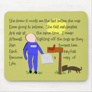 Postal Worker Missing The Dogs-Story Art Mouse Mat