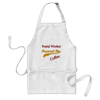 Postal Worker Powered By Coffee Adult Apron