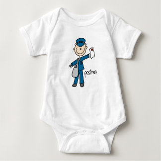 Postal Worker Stick Figure Baby Bodysuit