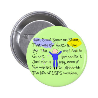 POSTAL WORKER Story Gifts 2 Inch Round Button