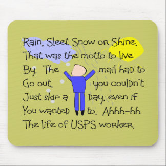 POSTAL WORKER Story Gifts Mouse Pad