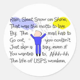 POSTAL WORKER Story Gifts Round Sticker