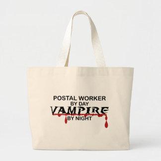 Postal Worker Vampire by Night Large Tote Bag