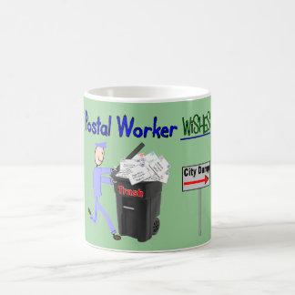 Postal Worker Wishes--Funny Coffee Mug