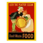 Postal: WWII lamen el disco limpio