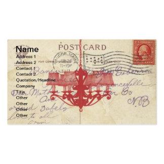 Postal y lámpara del vintage plantilla de tarjeta personal