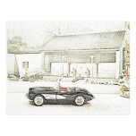 Postales 1957 del convertible del Corvette