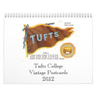 Postales 2012 del vintage de la universidad de los calendario de pared