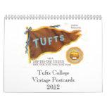 Postales 2012 del vintage de la universidad de los calendarios de pared