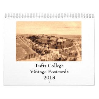 Postales 2013 del vintage de la universidad de los calendarios