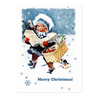 Postales adaptables del navidad de las Felices Nav
