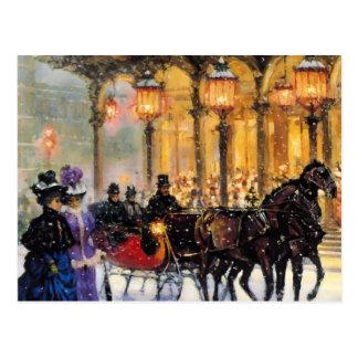 Postales adaptables del navidad del diseño del vin