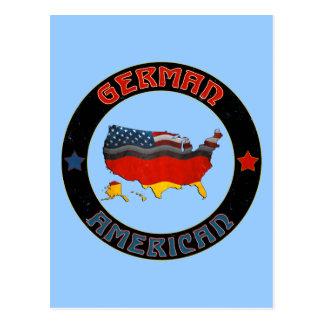 Postales alemanas del mapa de las banderas america
