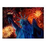 Postales americana de la libertad de la independen