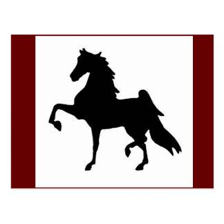 Postales - americano Saddlebred Silhoutte