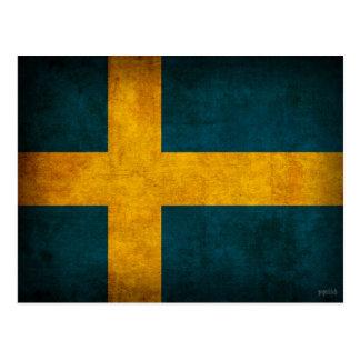 Postales apenadas bandera de Suecia