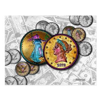 POSTALES - arte pop grande de la moneda