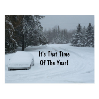 Postales autos del negocio de la nieve del