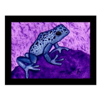 Postales azules de la rana del veneno