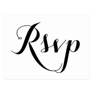 Postales blancas llanas de RSVP que se casan
