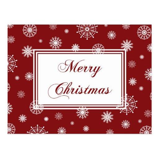 Postales blancas rojas de las Felices Navidad de l