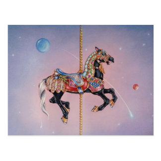 Postales - caballo 1 del carrusel de Petaluma