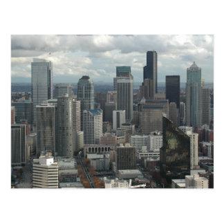 Postales céntricas de la opinión aérea de Seattle