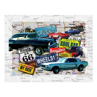 Postales - coches de la ruta 66_Classic