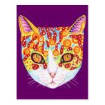 Postales coloridas del gato