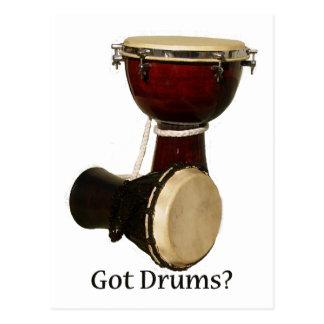 Postales conseguidas de los tambores
