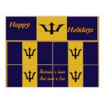 Postales de Barbados buenas fiestas