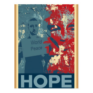 Postales de Burbank - esperanza de la paz de mundo