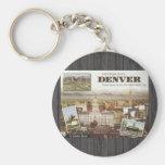 Postales de Denver de la Milla-Alta ciudad, vintag Llaveros Personalizados