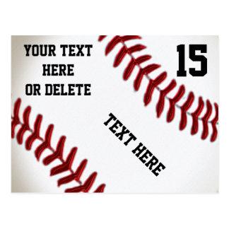 Postales de encargo del béisbol con 4 cajas de