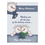 Postales de encargo del navidad del muñeco de niev