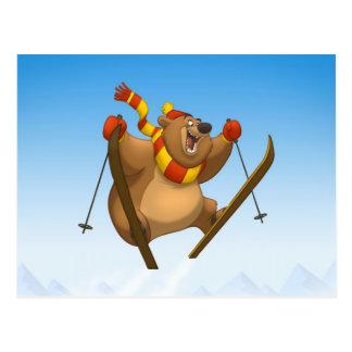 Postales de esquí del oso