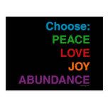 Postales de la abundancia de la alegría del amor