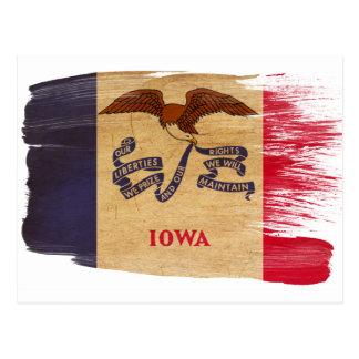 Postales de la bandera de Iowa