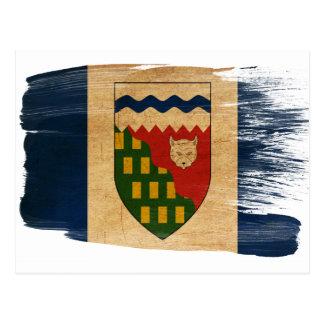 Postales de la bandera de los territorios del noro