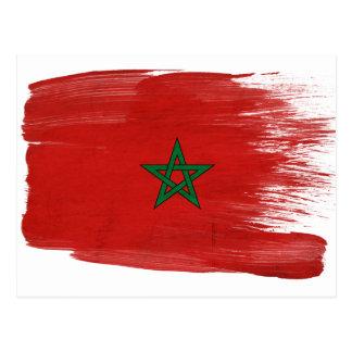 Postales de la bandera de Marruecos