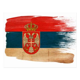Postales de la bandera de Serbia