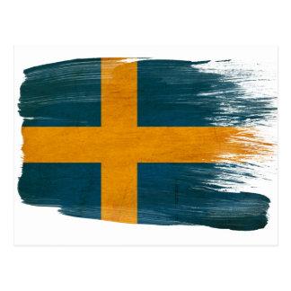 Postales de la bandera de Suecia
