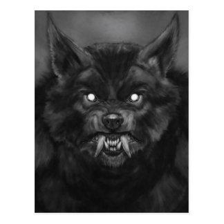 Postales de la cara del hombre lobo